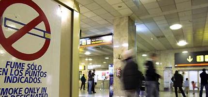 Fumar en el aeropuerto